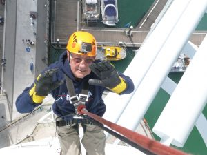 David BLAND - Abseiling down Portsmouth Spinnaker Tower 24.5.2015